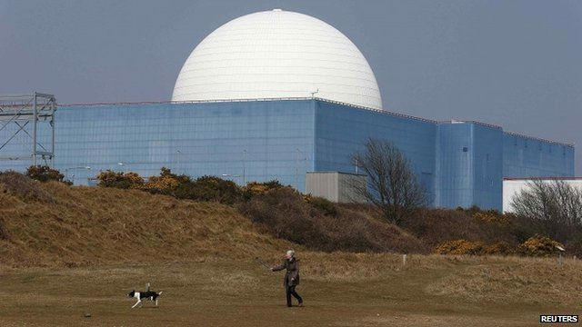 Sizewell B nuclear power station in Suffolk, southeast England