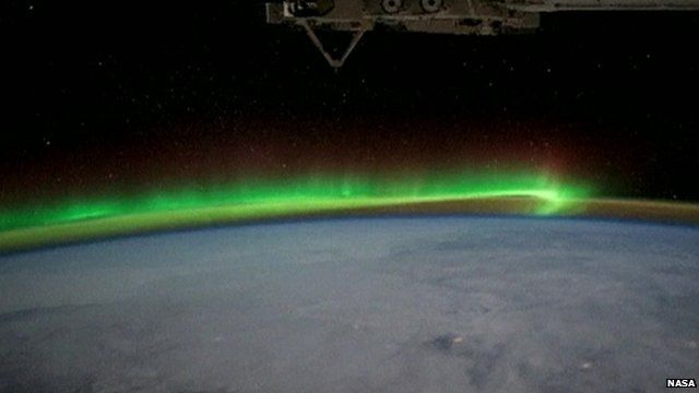 An image of Earth from outer space