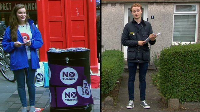 Young voters on both sides of the referendum debate