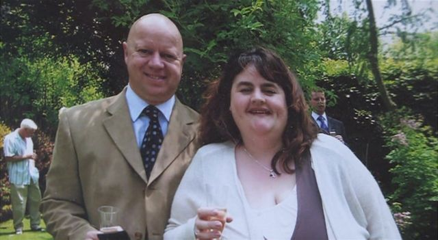 Clare Entwistle and husband