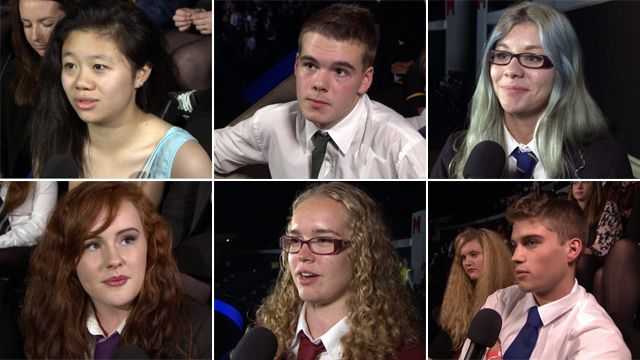 Audience members at The Big Big Debate