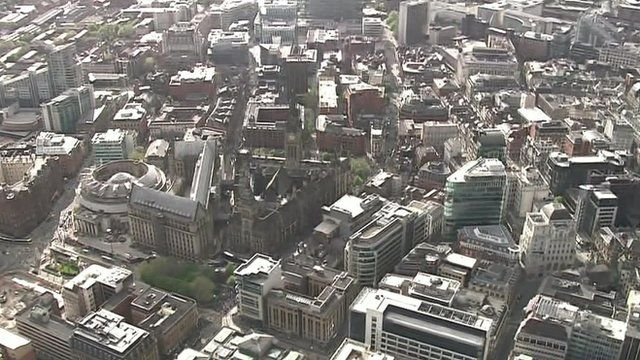 Manchester from the air