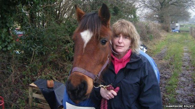 Penelope Davis with horse