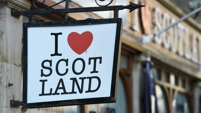 I love Scotland sign