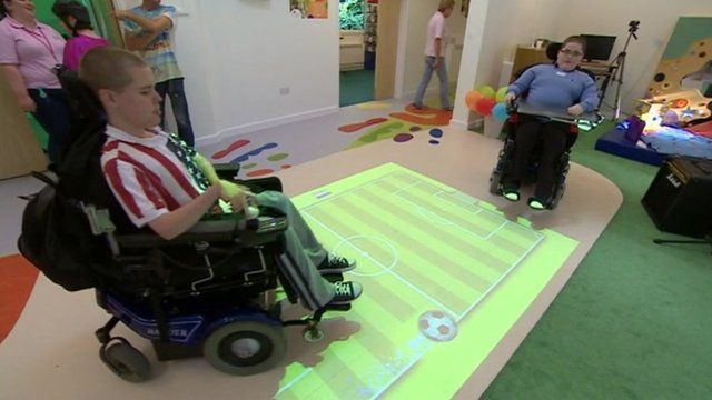 An interactive area at the revamped hospice in Oxford