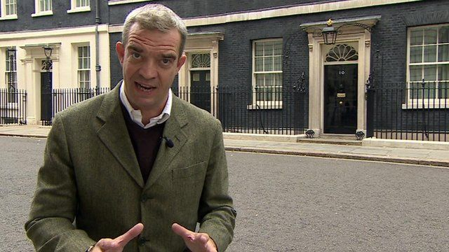 Giles Dilnot in Downing Street