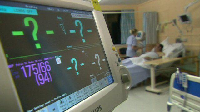 Hospital equipment on a ward