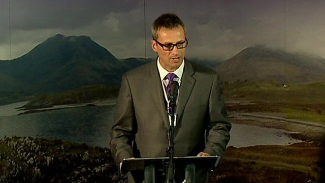 The result of the Highland vote is announced