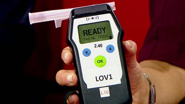 Close up of breathalyser