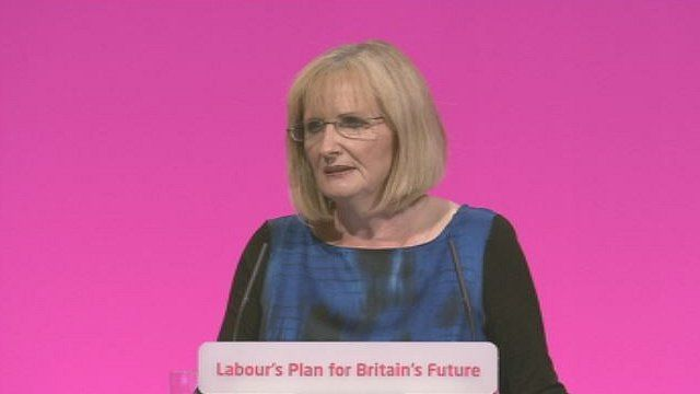 Margaret Curran addresses the 2014 Labour conference in Manchester