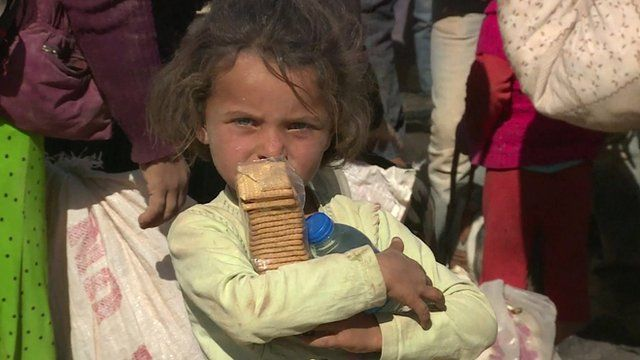 A Syrian refugee