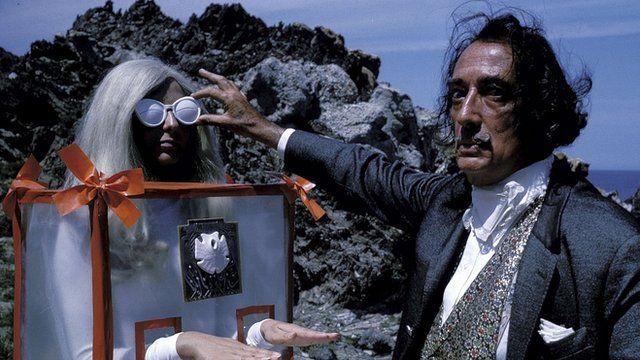 Salvador Dali with model