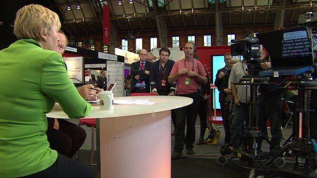 Angela Eagle reads part of Ed Miliband speech