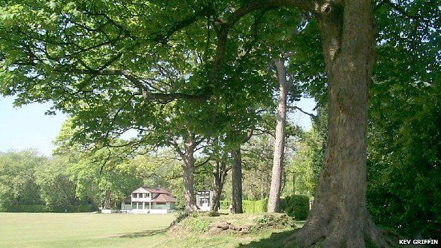 Ynysangharad Park cricket ground, Pontypridd - photo by Kev Griffin