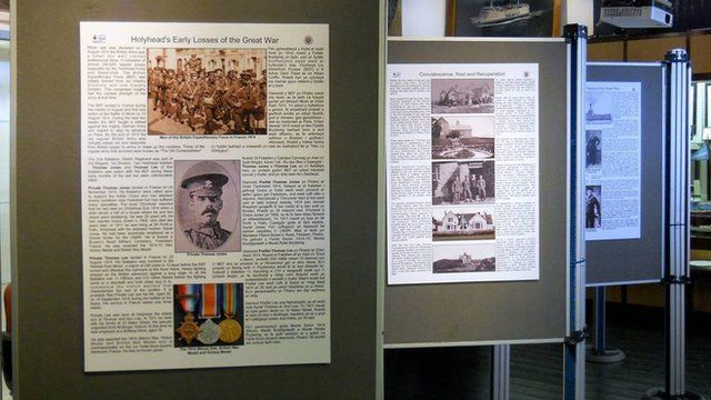 Exhibition boards at Holyhead Maritime Museum
