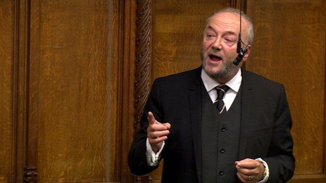 The Respect MP George Galloway