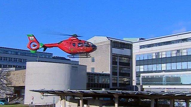 Air ambulance landing