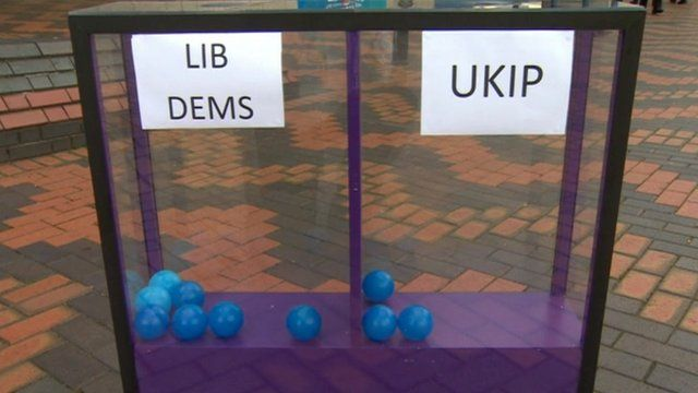 Daily Politics mood box at Tory conference in Birmingham