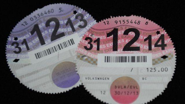Car tax discs