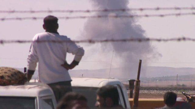 More shelling outside Kobane
