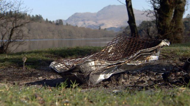 Discarded barbeque by Loch Lomond