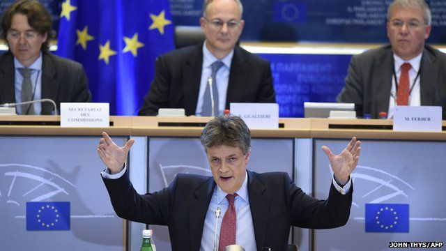 Lord Hill during European Parliament hearing on Wednesday 1 October 2014