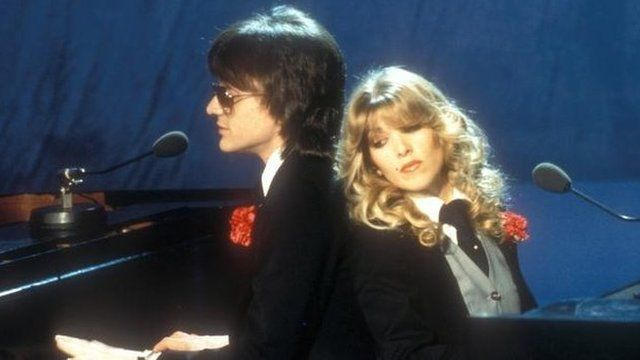 Lynsey De Paul with Mike Moran in the 1977 Eurovision Song Contest