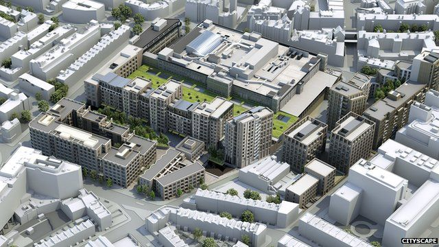 An artist's impression of the Mount Pleasant plans