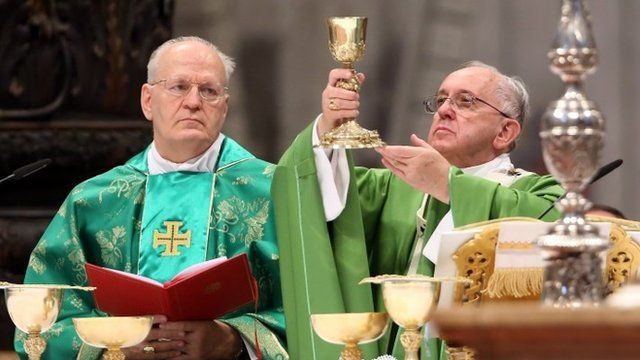 Pope Francis at mass