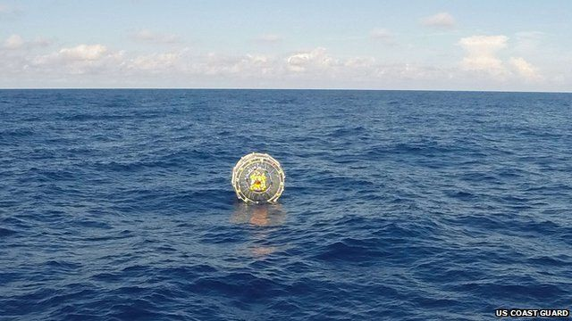 US Coast Guard handout photo shows the Coast Guard Cutter Bernard C. Webber arriving on scene off the coast of Miami to respond to a report of a man aboard an inflatable hydro bubble who needed assistance
