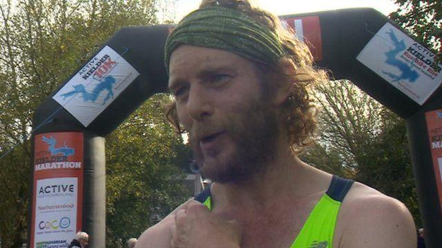 Marathon winner Ceri Rees
