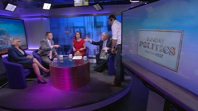Phone thrown during recording of the BBC Sunday Politics South West