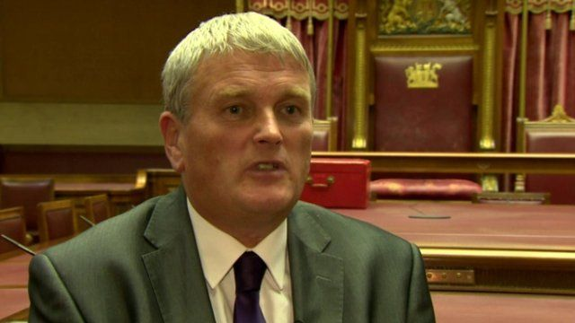 Jim Wells told BBC News NI's Marie-Louise Connolly that he will not abandon his religious beliefs