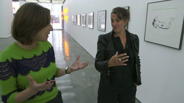 Kirsty Wark and Tracey Emin