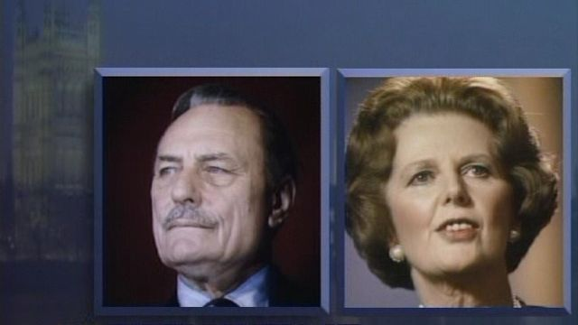 Enoch Powell and Margaret Thatcher