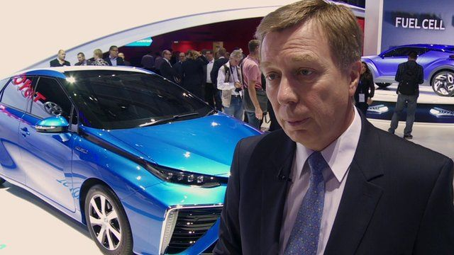 Toyota's Didier Leroy says Toyota wanted to take the lead on hydrogen fuel cell cars.