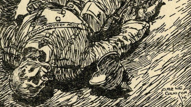 Detail from Archie Gilkison cartoon