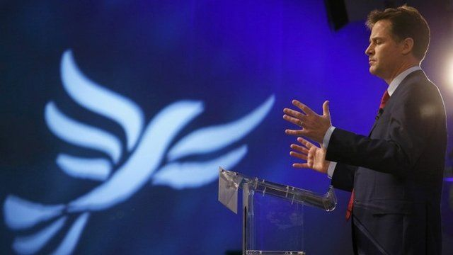 Nick Clegg delivers conference speech