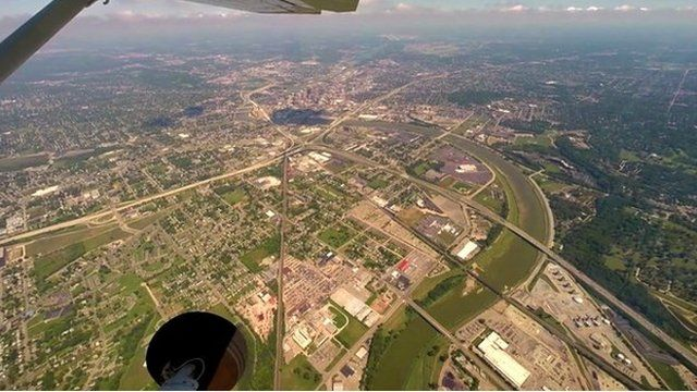 View from a surveillance plane