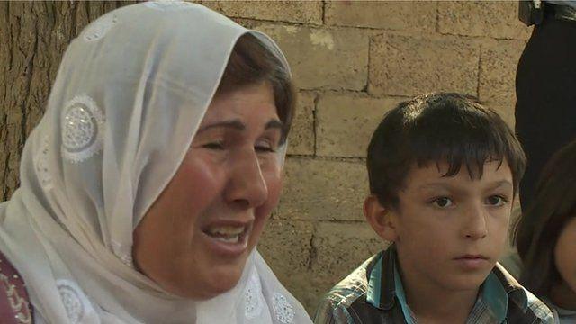 Grieving mother of killed Kurdish fighter
