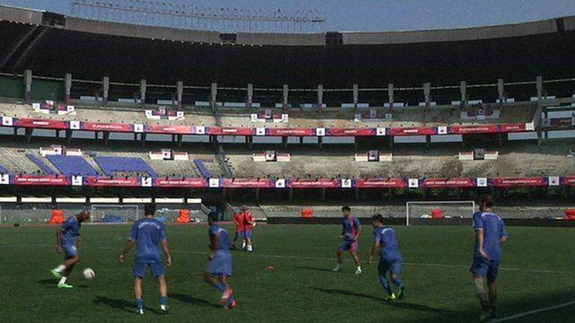 Mumbai City warm-up session
