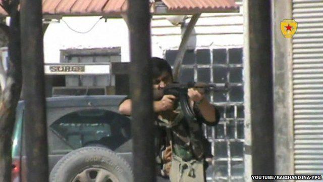 Fighter in Kobane
