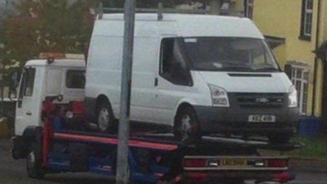 The van was taken away for forensic examination