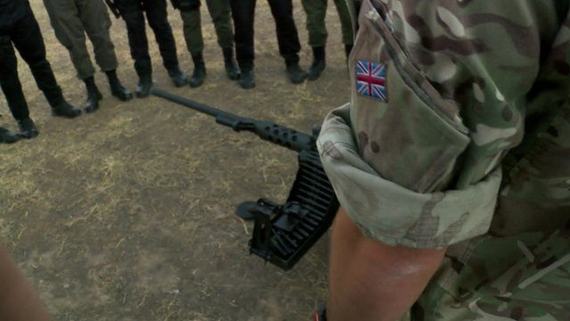UK soldiers train Kurdish forces