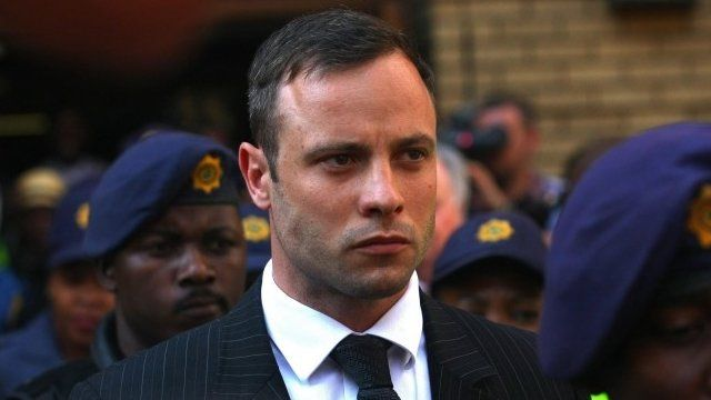 Oscar Pistorius outside court