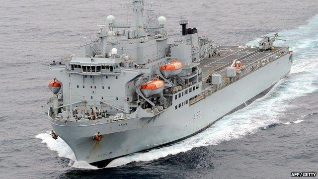 RFA Argus setting sail