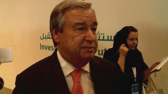 The UN High Commissioner for Refugees Antonio Guterres