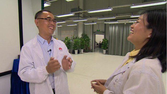 Prof Yang Qiang and Linda Yueh