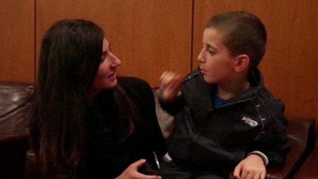 Erion Abazi with his mother Pranvera Zena