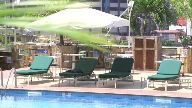 The busiest hotel in Accra lies empty